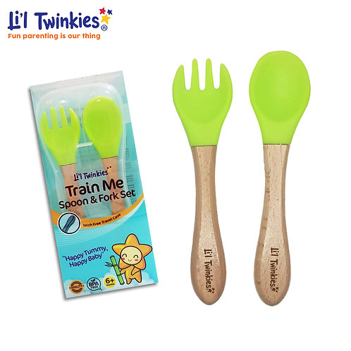 Train Me Spoon and Fork, Green