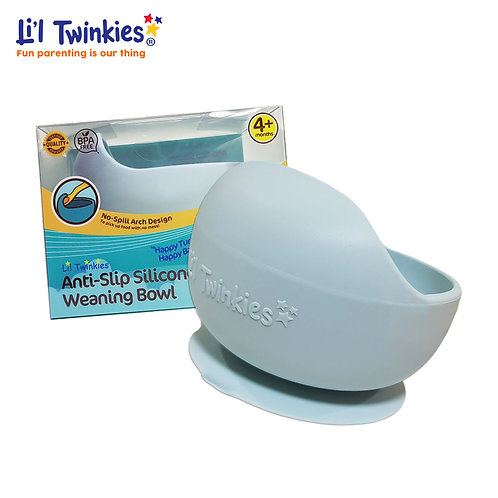 Silicone Weaning Bowl, Gray