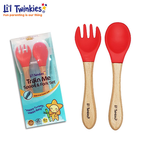 Train Me Spoon and Fork, Red