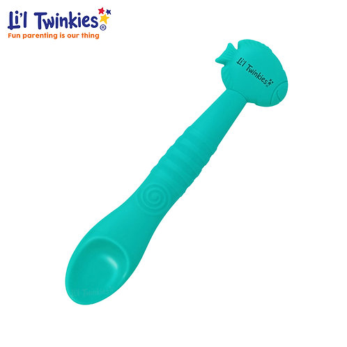 Silicone Weaning Spoon, Teal