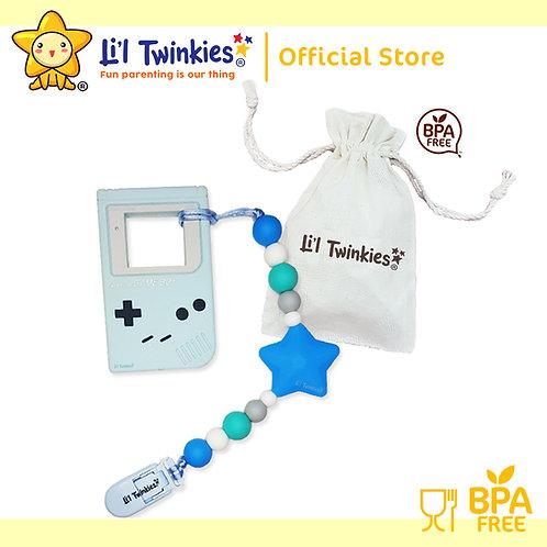 Li'l Twinkies Teether w/ Clip-on, Blue Gameboy