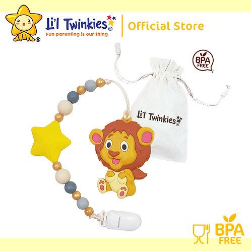 Li'l Twinkies Teether w/ Clip-on, Lovable Lion