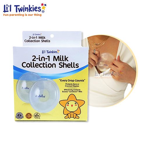 2-in-1 Milk Collection Shells, 1 pair