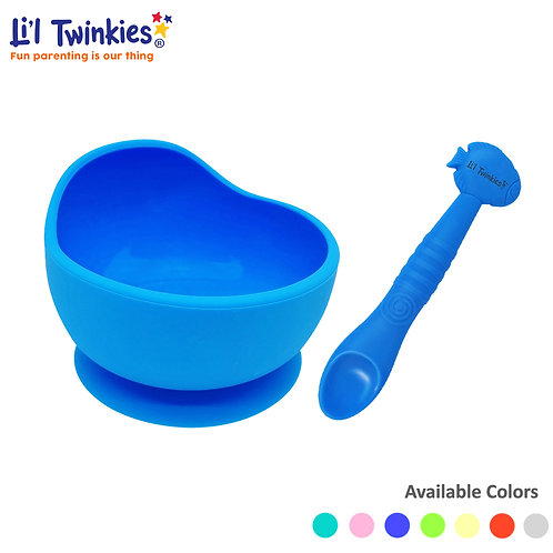 Feeding Bundle Silicone Weaning Bowl and Spoon