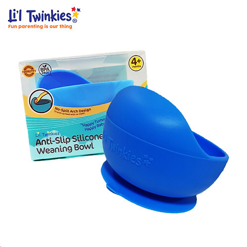 Silicone Weaning Bowl, Blue