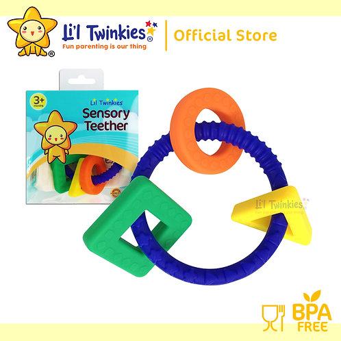 Li'l Twinkies Sensory Teether Ring, Royal Blue
