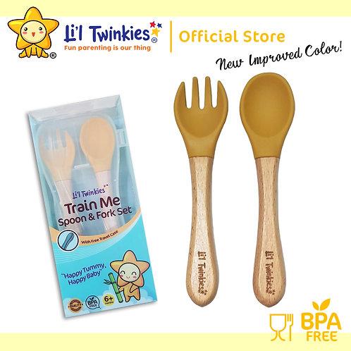 Li'l Twinkies Train Me Spoon and Fork Set, Butterscotch