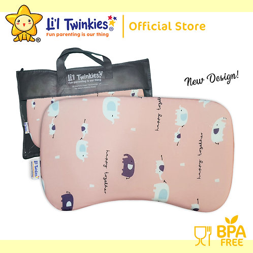 Li'l Twinkies New Memory Foam Pillow for Babies and Toddlers, Mom n Baby Eleph