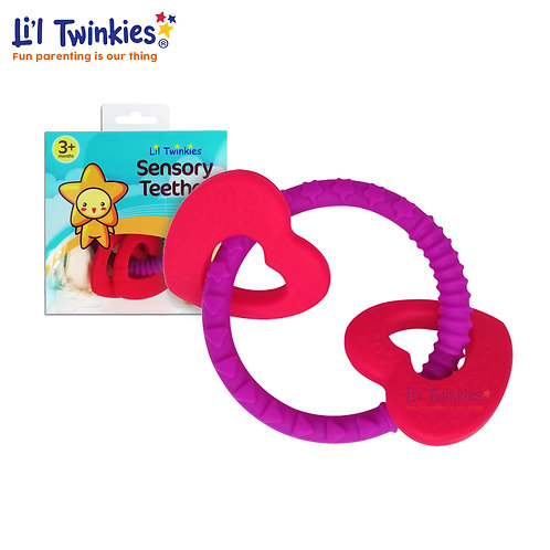 Sensory Teether Ring, Luscious Hearts