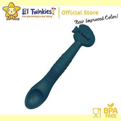 Li'l Twinkies Silicone Weaning Spoon, Peacock Blue