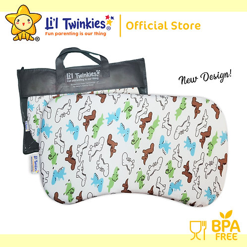 Li'l Twinkies New Memory Foam Pillow for Babies and Toddlers, Dinos