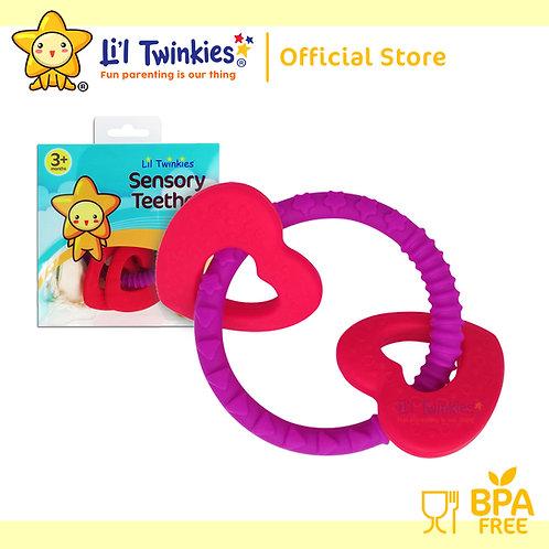 Li'l Twinkies Sensory Teether Ring, Luscious Hearts