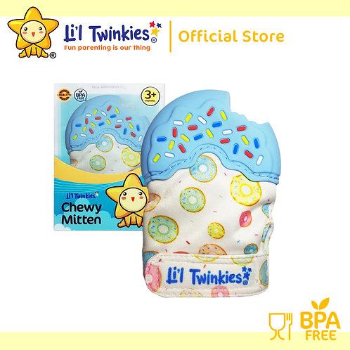 Li'l Twinkies Chewy Mitten Teether, Blue Donut