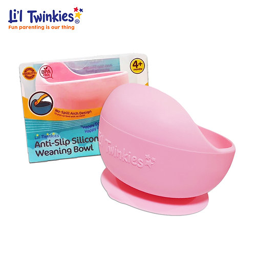 Silicone Weaning Bowl, Light Pink