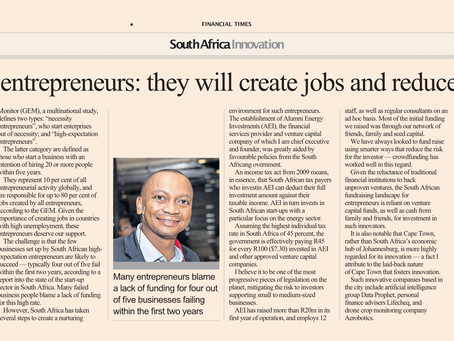 Aziza Project in the Financial Times UK