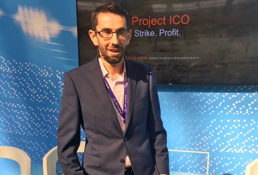 blockchain live aziza project asset backed security token ico cryptocurrency