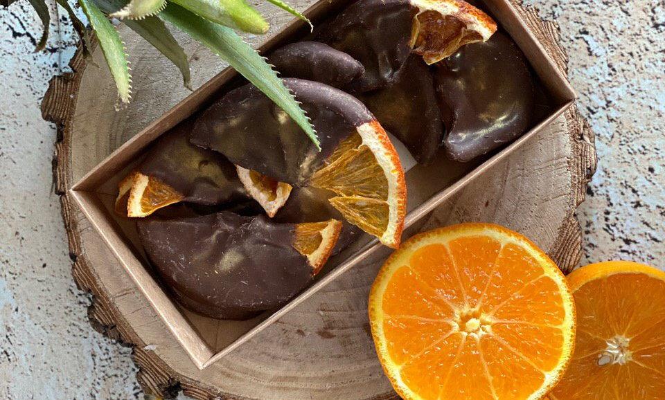 Апельсины в тёмном шоколаде Callebaut