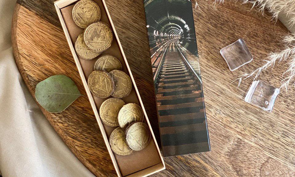 Набор шоколадных жетонов метро