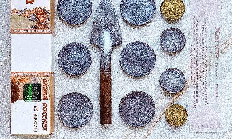Шоколадный набор Лопата-деньги мини