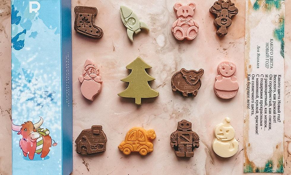 Шоколадный набор «Новый год быка»