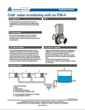 monitoramento de agua fria com um itm-4.