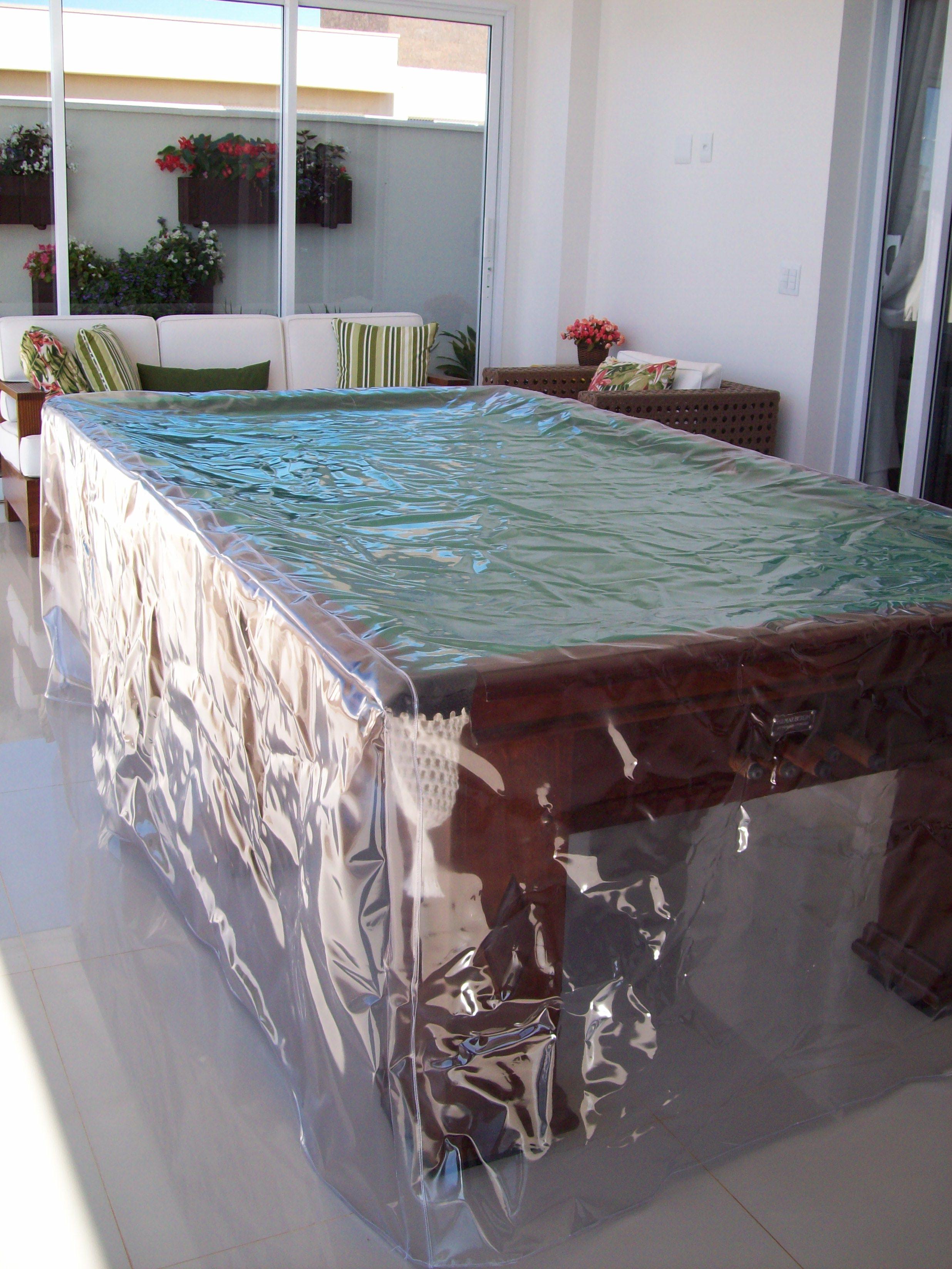 Capa de plástico para mesa de cinuca