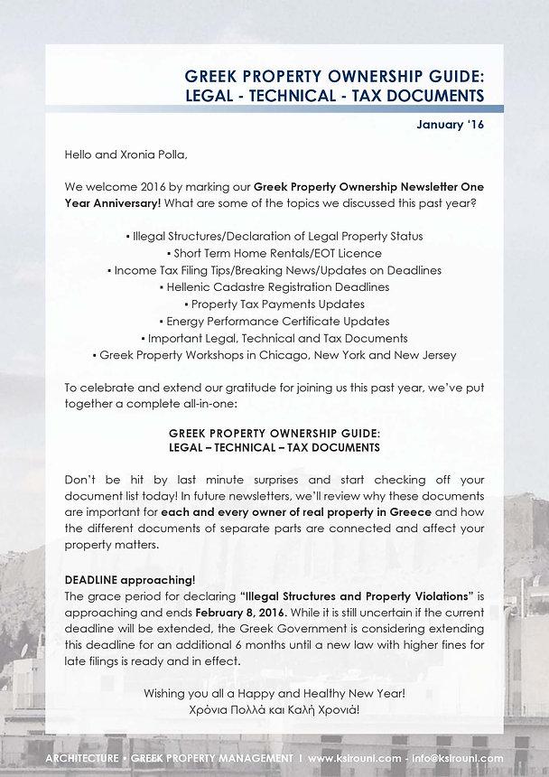 January '16 Newsletter
