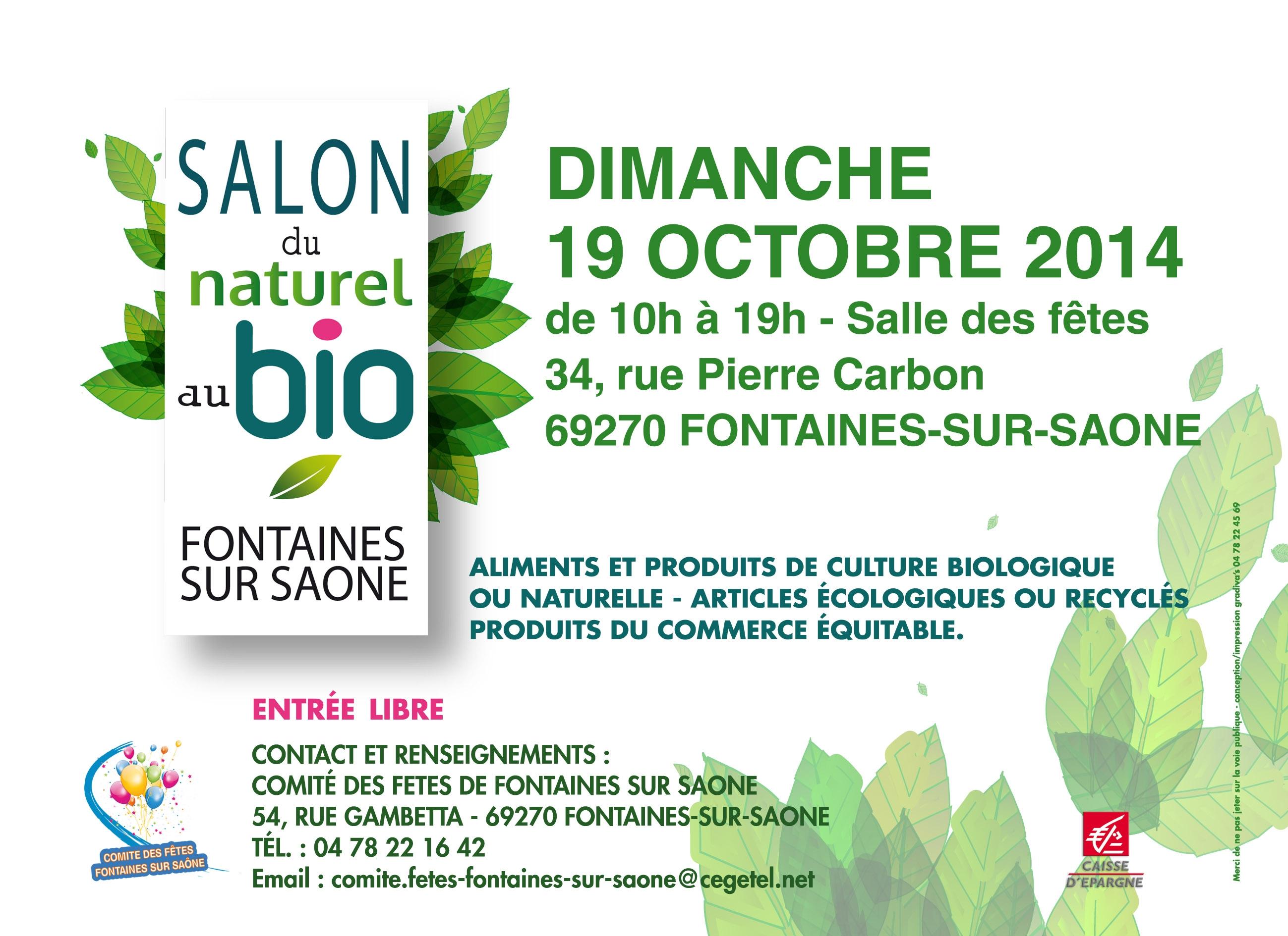 Flyer salon du Naturel au Bio 2014