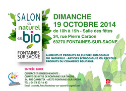 Flyer salon du Naturel au Bio 2014