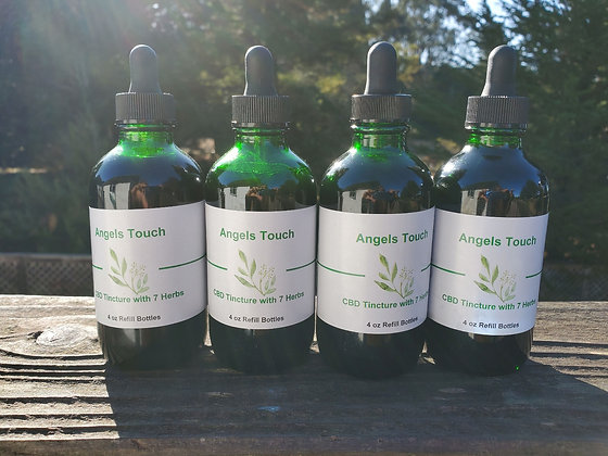 ANGELS TOUCH CBD ONLY TINCTURE 4 OZ REFILLS
