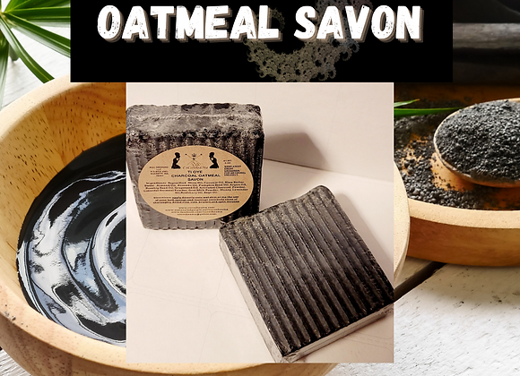TiOye Charcoal Oatmeal  Savon