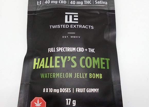 Twisted Extracts Halley's Comet