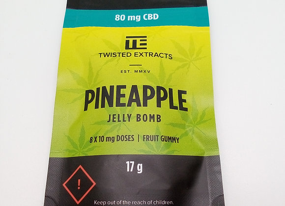 Twisted Extracts Pineapple CBD 80mg
