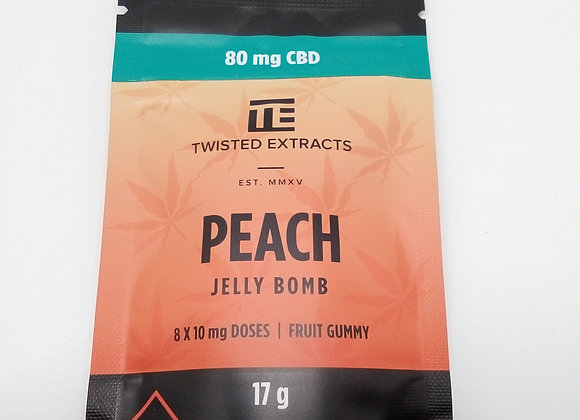 Twisted Extracts Peach CBD 80mg
