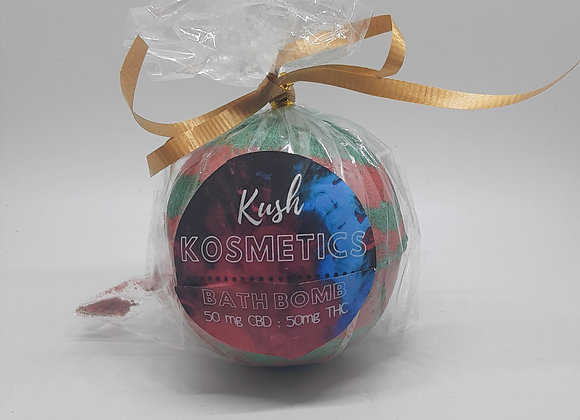 Kush Kosmetics Sleigh Ride 1:1 Bath Bomb 100mg