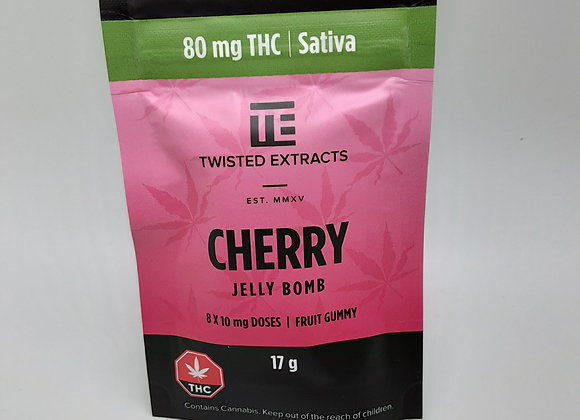 Twisted Extracts Sativa Cherry 80mg Jelly Bomb