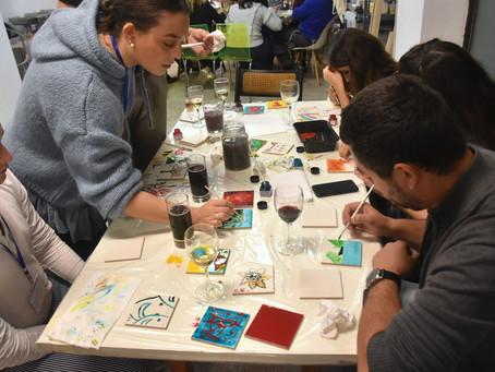 Tiles painting workshop