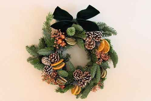 Copper Christmas Wreath (30cm)