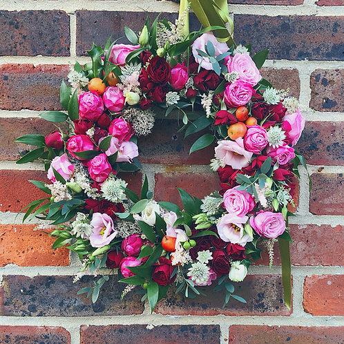 Luxury Blush and Burgundy Wreath (35cm)