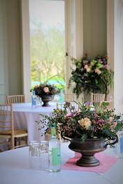 urn centrepieces and flowerstand
