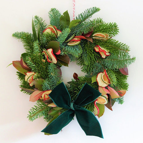 Apple and Lime Christmas Wreath (30cm)