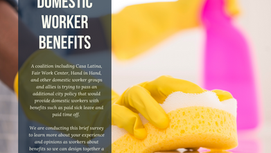 Improving Benefits for Domestic Workers