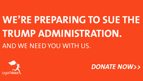 We're preparing to sue the Trump Administration.