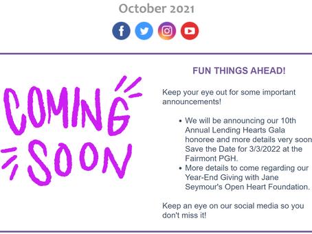 October 2021 eNewsletter