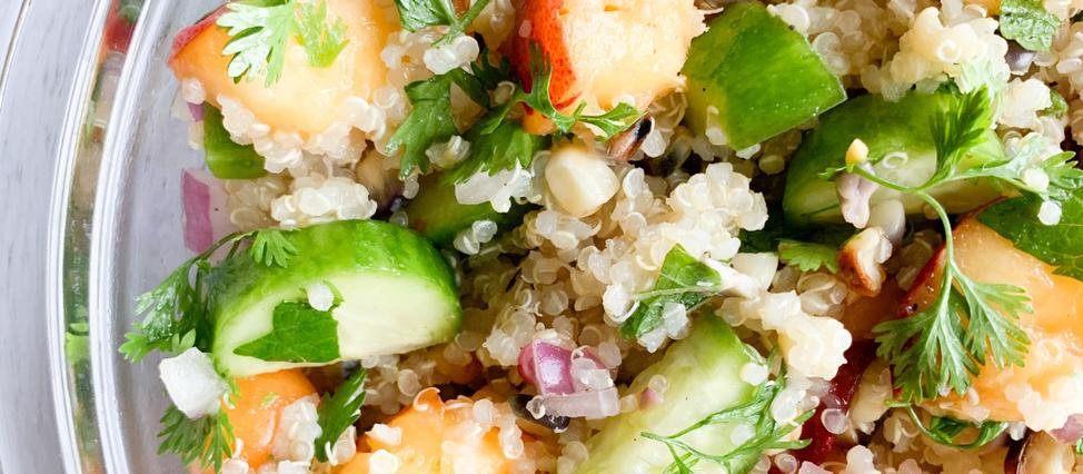 Grilled Corn, Nectarine and Quinoa Salad