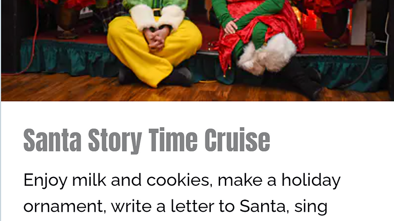 Santa Story Time Cruise on the Gateway Clipper