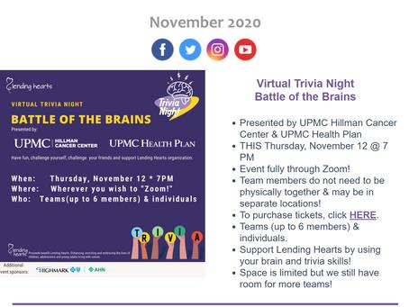 November 2020 eNewsletter
