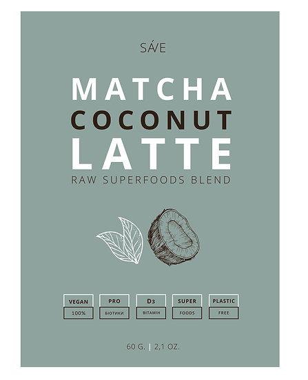 MATCHA COCONUT LATTE | raw суміш суперфудів, 60 g