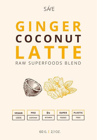 GINGER COCONUT LATTE | raw суміш суперфудів, 60 g