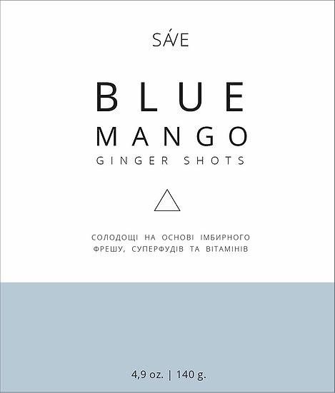 BLUE SPIRULINA & MANGO & GUARANA . Ginger shots. 15 цукерок.